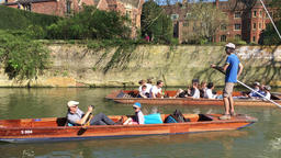 Punting on the River Cam Cambridge UK GIF