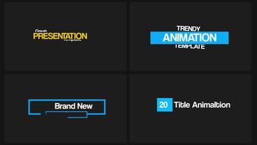 20 Fresh Title Animation モーショングラフィックステンプレート