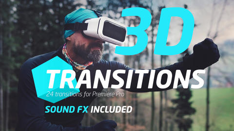 3D Transitions ME Premiere Proテンプレート