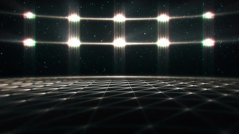 3D White Matrix Landscape in Cyberspace VJ Loop Background V2 Animation