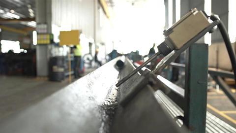Aluminum Duct Pipe Coming Towards Camera Archivo