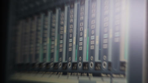 Sound Recording Software. Music Studio Recording Session. Blured Video Archivo