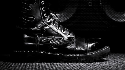 Combat Boot Stepping .Hard Rock and Heavy Metal Concept Archivo
