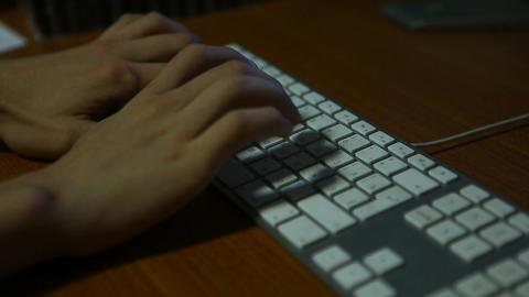 keyboard shadow 01 Stock Video Footage