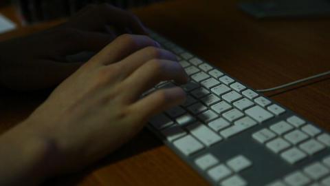 keyboard shadow 01 Footage