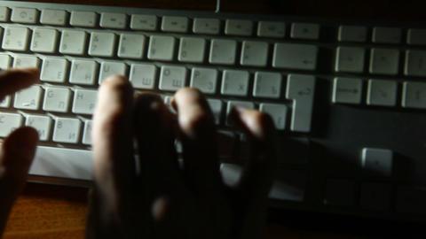 keyboard shadow 03 Stock Video Footage
