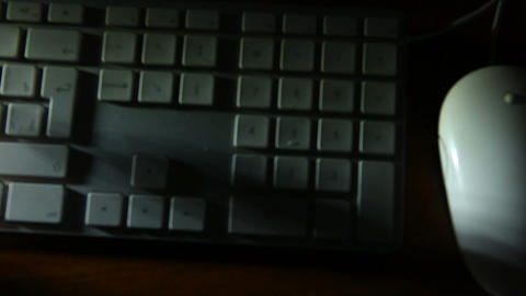 keyboard shadow 03 Stock Video Footage