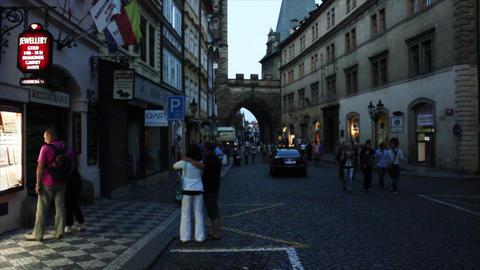 Prague Street 1 Stock Video Footage