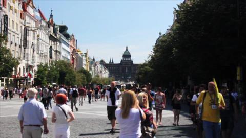 Prague Street 4 Stock Video Footage
