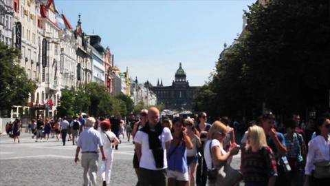 Prague Street 4 Stock Video Footage