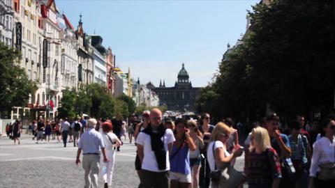 Prague Street 4 Footage