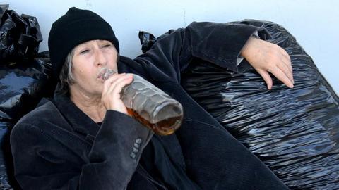 drunk woman Stock Video Footage