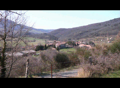 Bugarach Village stock footage