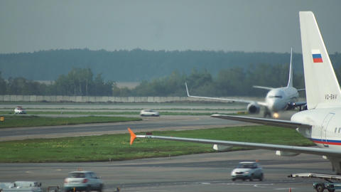 Domodedovo Airport Stock Video Footage