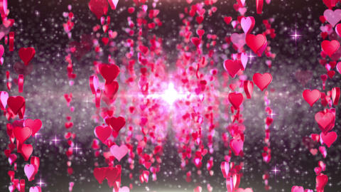 heart particule line 01F Stock Video Footage