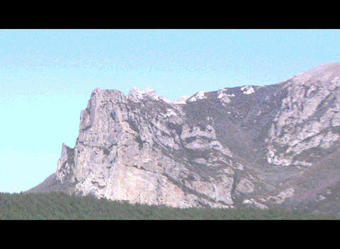 Bugarach Monta stock footage