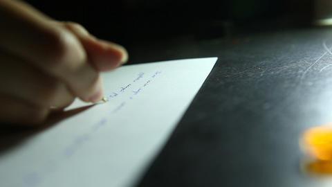 writer night Stock Video Footage