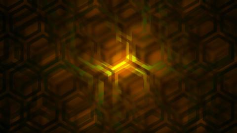 hexagonal shadow Stock Video Footage