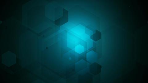 hexagon lights Animation