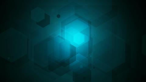 hexagon lights Stock Video Footage