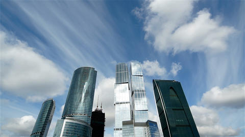 Sky And Skyscrapers Stock Video Footage