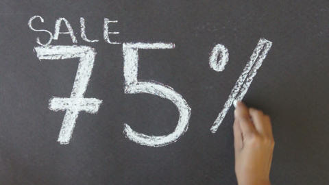 75% Off Sale Stock Video Footage