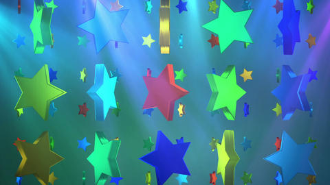 star 3d BG 01 D Stock Video Footage