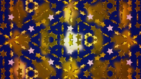 star 3d kaleid BG 02 B Stock Video Footage