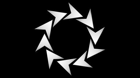 arrow round Stock Video Footage