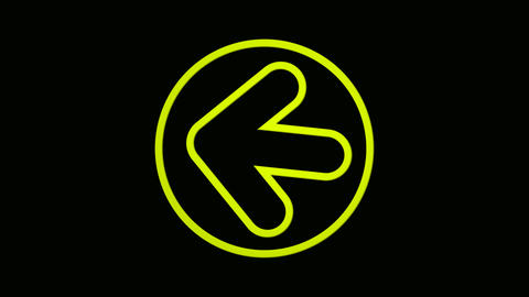 circle yellow Stock Video Footage