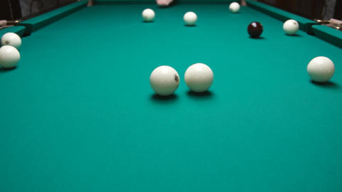 Russian Billiard Stock Video Footage