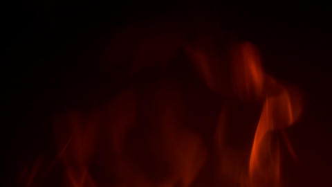 Fire Flame On Black Background Stock Video Footage