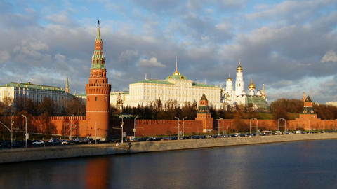 Moscow Kremlin stock footage