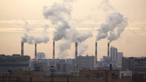 Industrial Smog Stock Video Footage