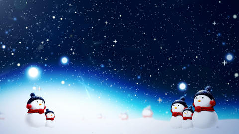 Christmas Snow CG動画
