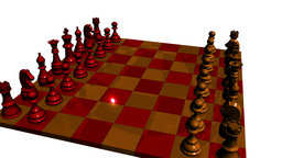Lacquered Orange Red Chess stock footage