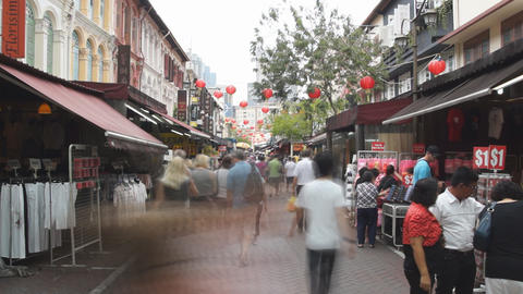 Chinatown In Singapore Footage