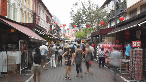 Chinatown In Singapore Stock Video Footage