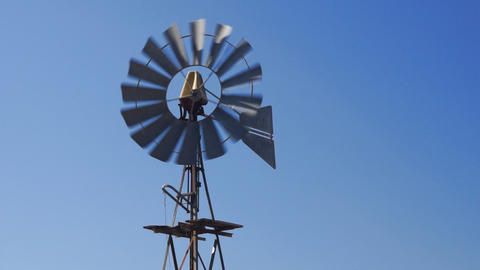 Wind Water Pump Stock Video Footage