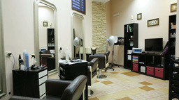 New Interior Of European Beauty Salon stock footage