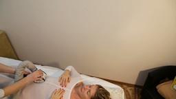 Therapist applying lipo massage Footage