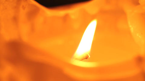 Closeup of a burning candle Footage
