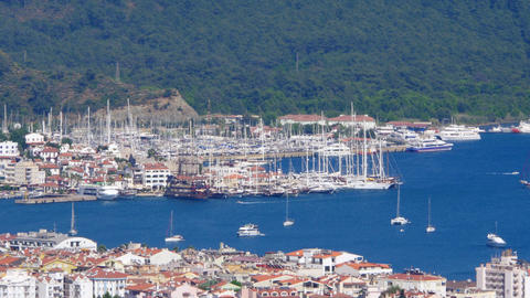 Marmaris, Turkey, Daily life Summer Travel Destination Footage