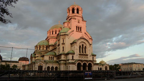Alexander Nevsky Cathedral in Sofia Footage