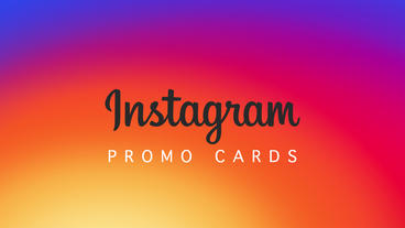 Instagram cards promo แม่แบบ Apple Motion