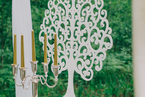 Rustic wedding photo zone. Hand made wedding decorations includes Photo
