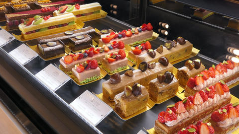 Cakes And Sweets In Japanese Pastry Shop Tokyo Japan GIF