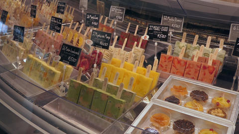 Ice Cream With Fruit In Japanese Shop In Tokyo Japan Footage