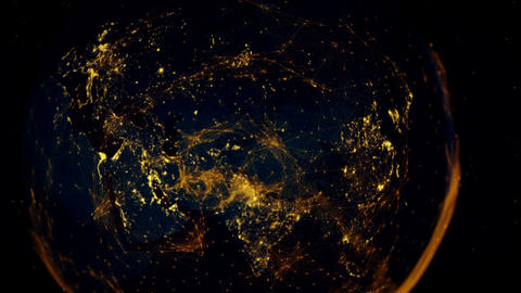 The connected eastern hemisphere Footage
