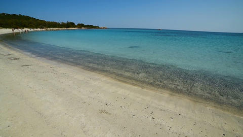 Clear water in Lu Impostu beach. Sardinia, Italy Live Action